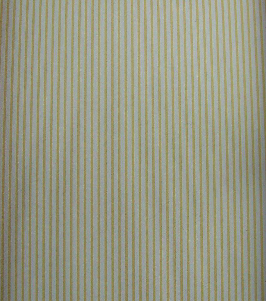 50x30cm Papier Tapetten für Puppenhaus 1:12 Weiß mit gelbe Streifen 25,27EUR//M²