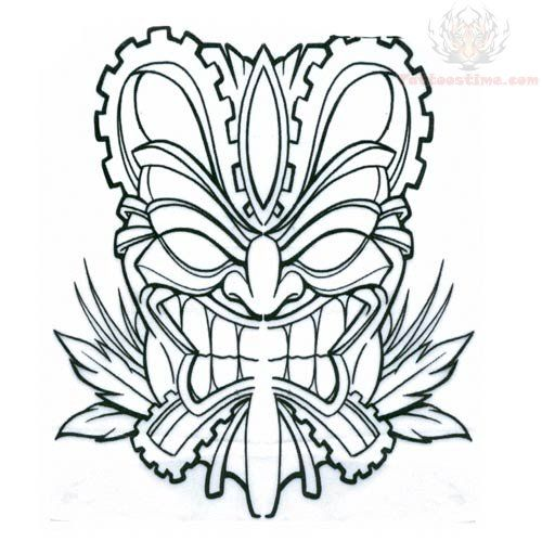 Pix For Tiki Mask Coloring Pages