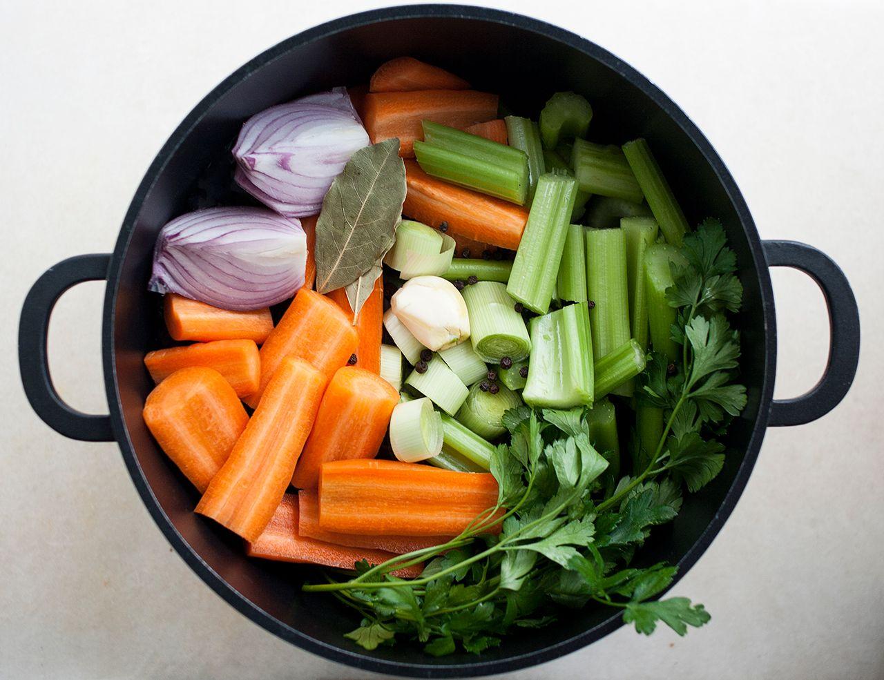 Simple vegetable stock Recipe Homemade vegetable broth