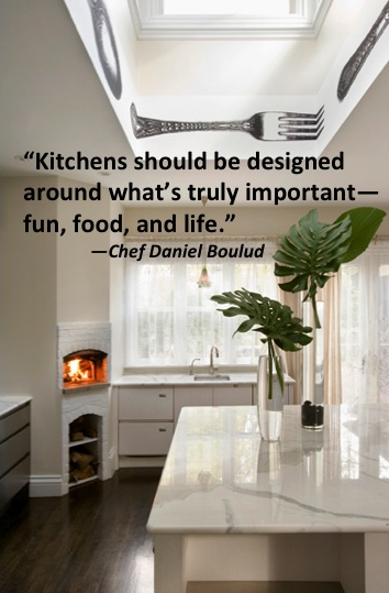kitchens should be designed around what's truly important-fun