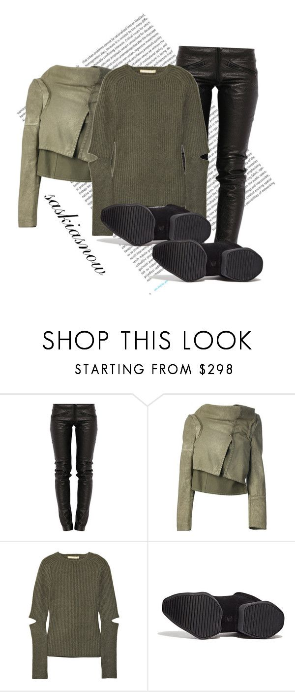 """Unbenannt #1763"" by saskiasnow ❤ liked on Polyvore featuring Oris, Preen, Comme des Garçons, Michael Kors and Rick Owens"