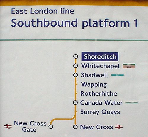 London Line Map.East London Line Route Map London Uk East London London London