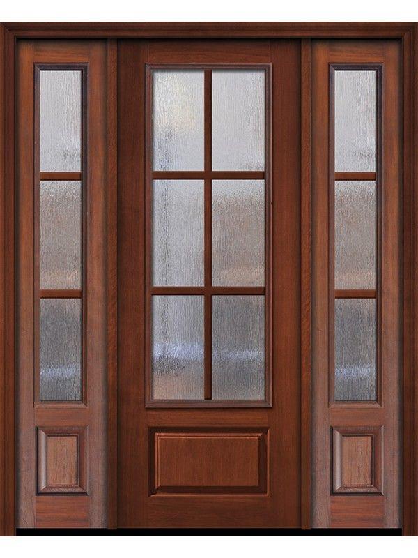 96 3 4 Lite 1 Panel 6 Lite Sdl Cherry Door 2side French Doors Patio Walnut Doors Double Patio Doors
