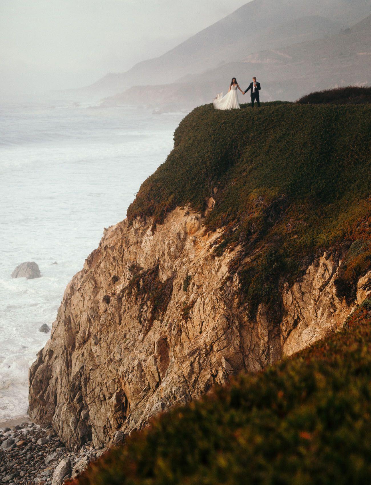 236ce07f6f Intimate Big Sur Wedding // wedding portraits on the beach by Cassie Rosch