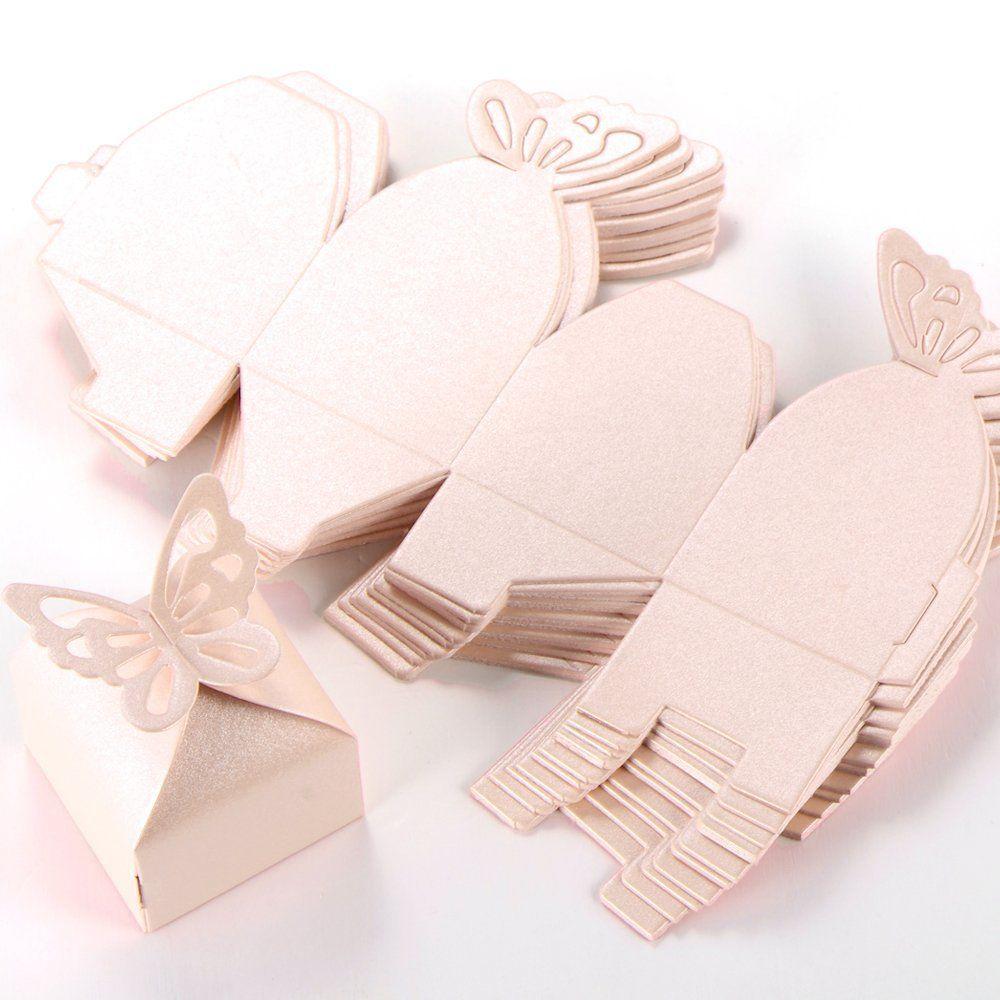 Cle De Tous 50 Cajitas Caja Para Bombones Caramelos Regalo Mariposa Color Rosa Decoracion Para B Cajas Para Bombones Hacer Cajas De Regalo Cajas Para Regalar