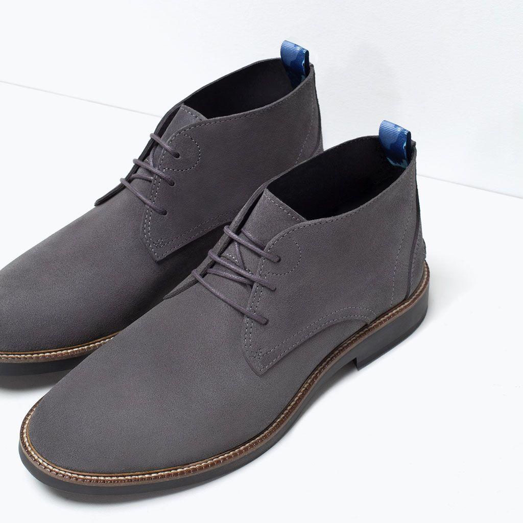 2b5e76c456113 ZARA - REBAJAS - BOTIN PIEL DESERT Zapatos Náuticos