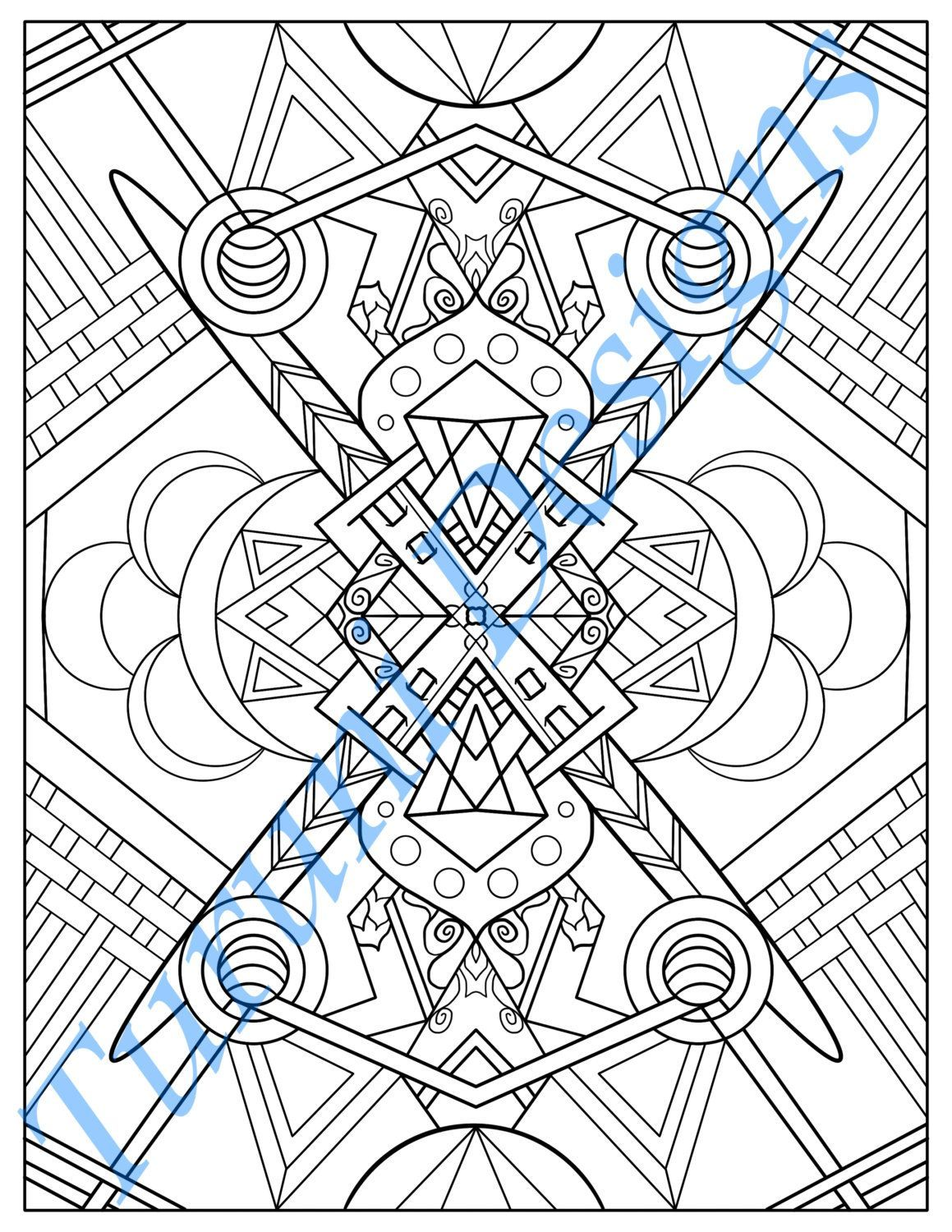 Tribal Inspired Printable Adult Coloring Page By