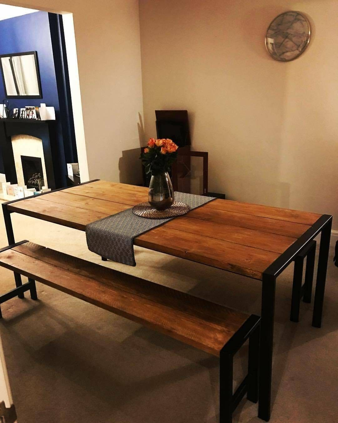 8 Seater Dining Table With 2 Benches Chairs 8 Seater Dining