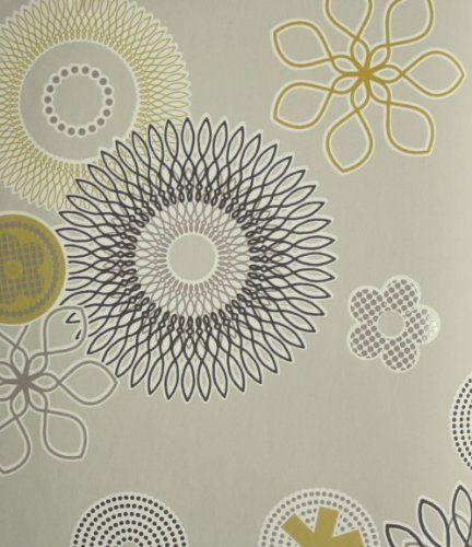 tapete 790245 rasch tapeten spice up 2013 retro braun grau beige blumen vliestapete vintage von rasch - Tapete Grau Beige