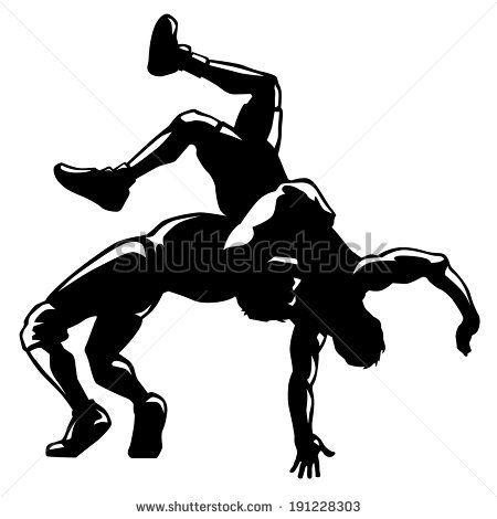 wrestling silhouette clip art bing images wrestling awards rh pinterest com