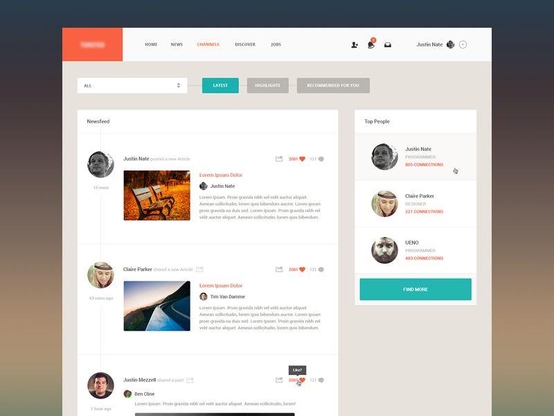 News Web Design App Design Web App
