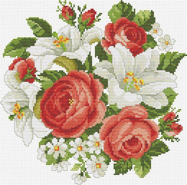 Ливинтернет вышивка розы