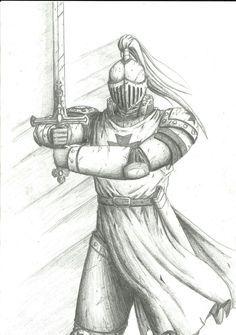 Graphite Pencil Sketch Artwork Sword Armour Art Drawing of Japanese Samurai
