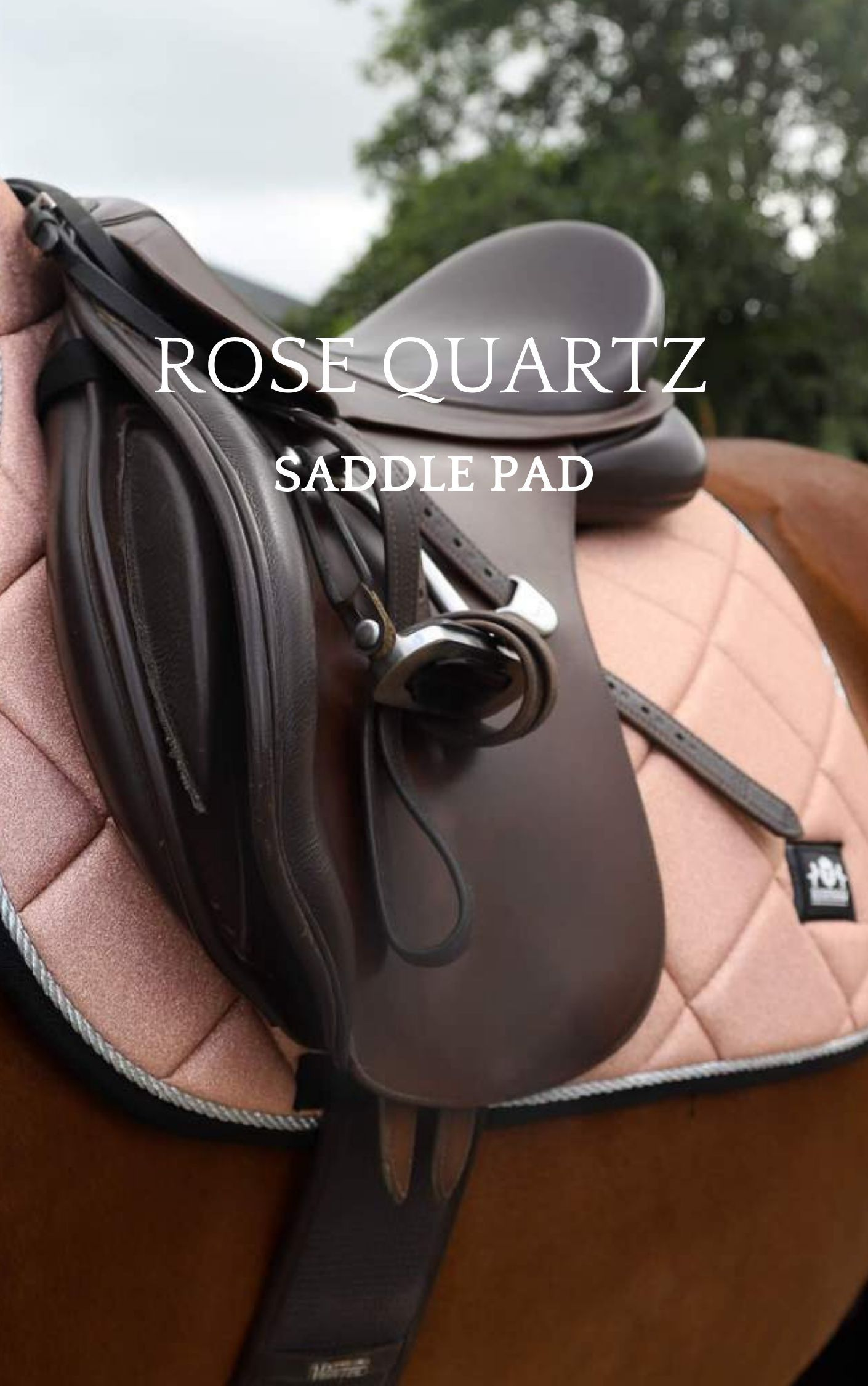 Rose Quartz Saddle Pad