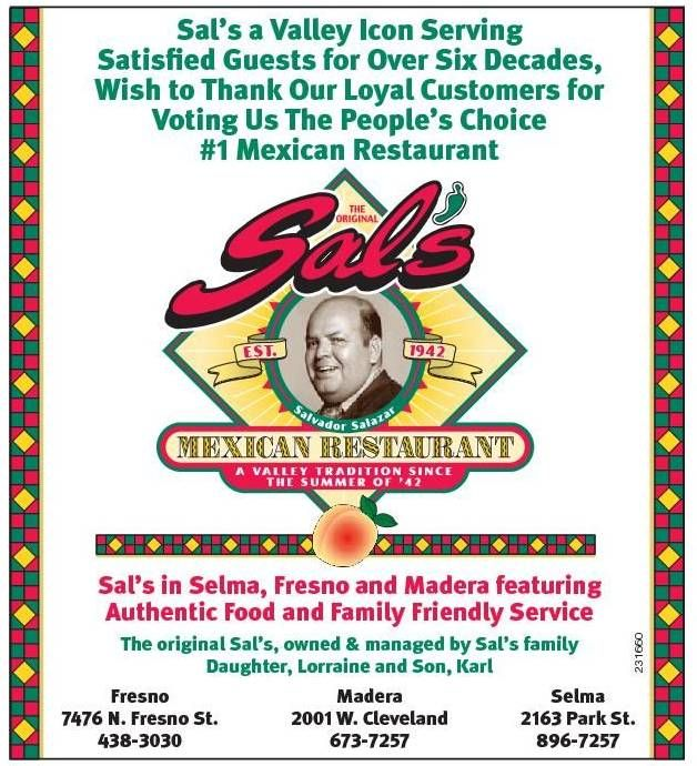 Sals Mexican Restaurant Selma Ca 1 Of The Best Mexican