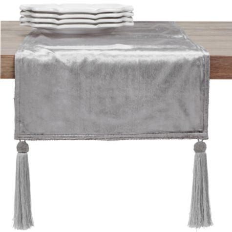 Velvet Runner Silver From Z Gallerie Decorating Z