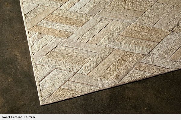 White Cream Beige Cowhide Leather for Upholstery and Rugs : Kyle Bunting