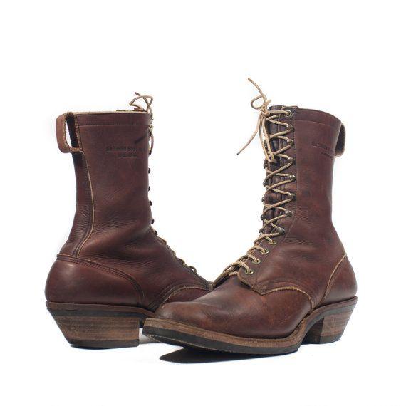 8c945db0189 Men's Vintage White's Packer Boots Lace Up Hathorn Boot Brown ...