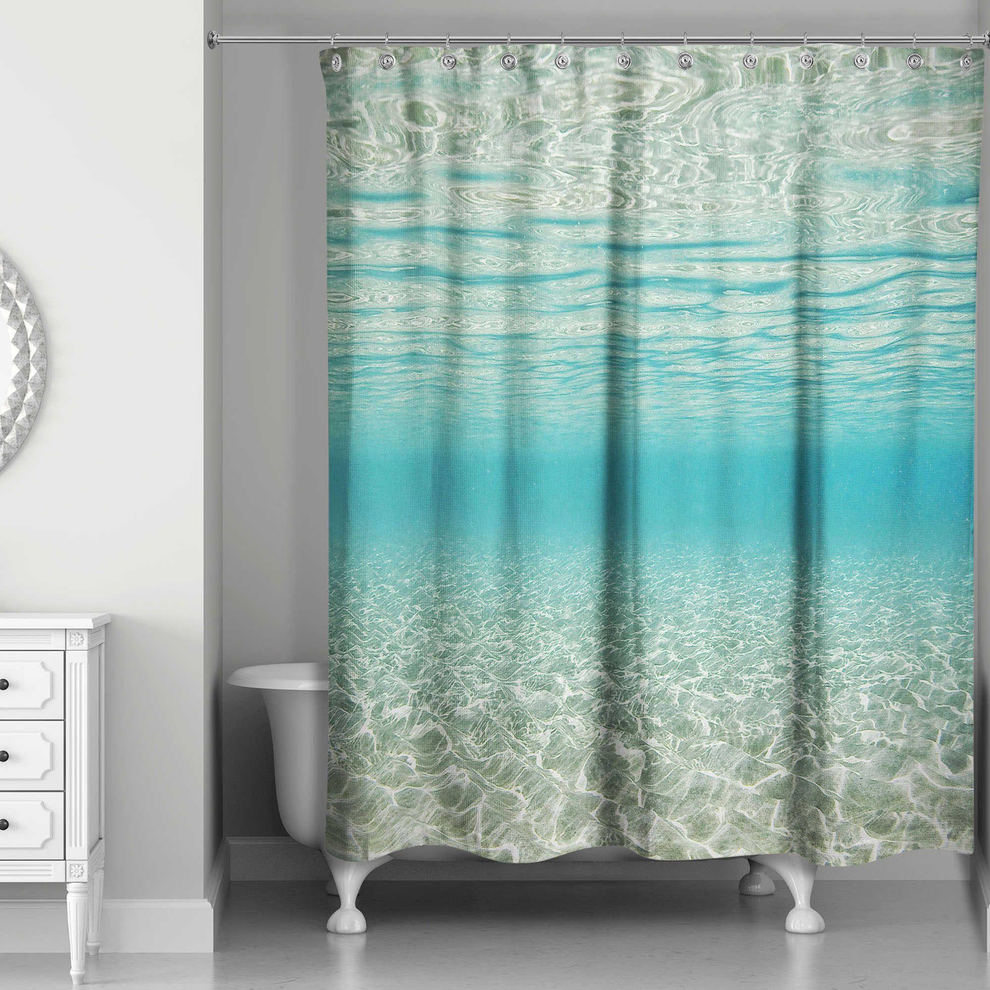 Designs Direct Under The Ocean Shower Curtain In Blue Ocean