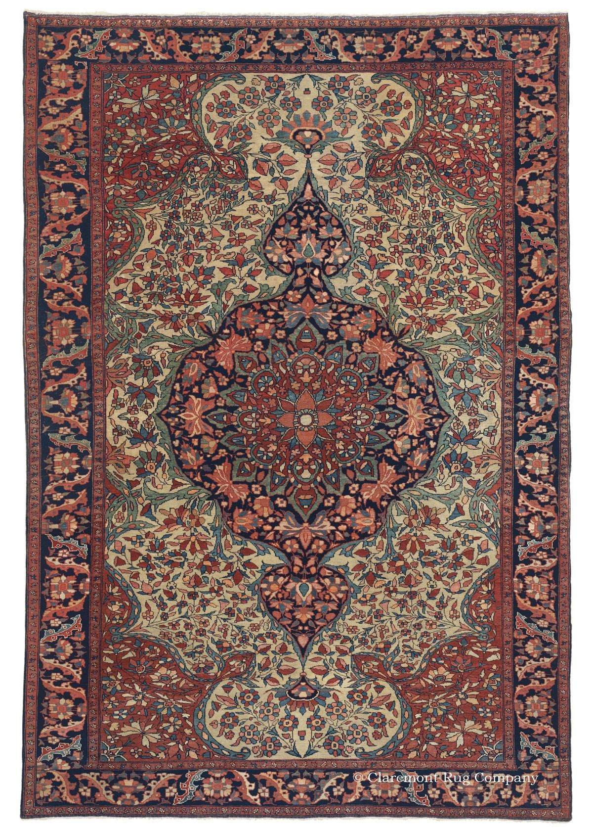 Ferahan Sarouk West Central Persian 4ft 6in X 6ft 7in Circa 1875 Carpete Tapetes