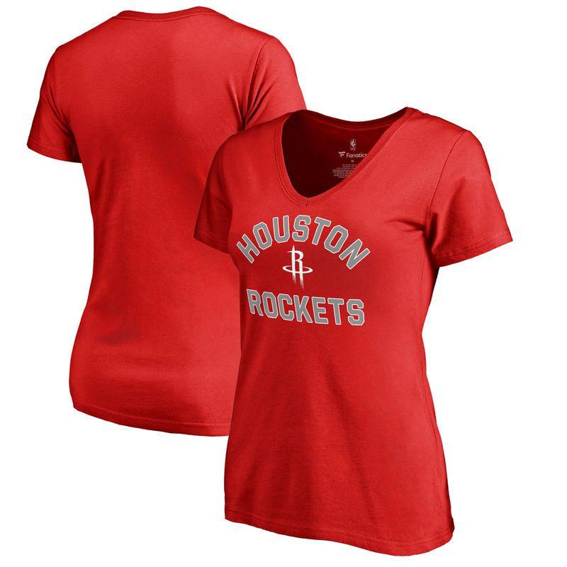 Houston Rockets Fanatics Branded Women s Plus Size Overtime V-Neck T-Shirt  - Red 3b606e51b