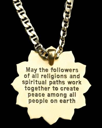World Peace Quotes Inscription On Back Of 'world Peace Pendant.spiritfilled .