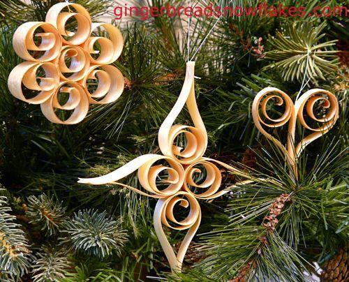 Scandinavian Shaved Wood Ornaments Christmas Ornaments How To Make Ornaments Wood Ornaments