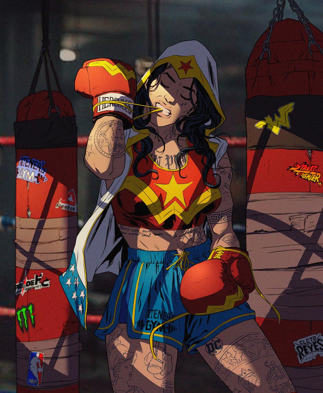 Rodrigo Lorenzo On Behance Boxer Wonder Woman Redesign In 2020 Wonder Woman Comic Wonder Woman Art Wonder Woman
