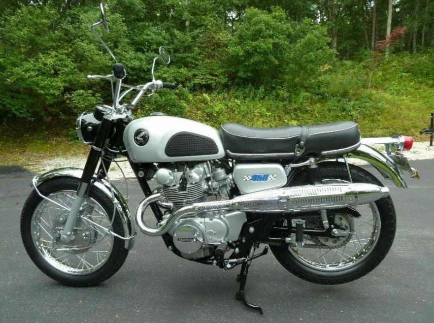 Factory Scrambler Kit 1967 Honda Cb450d Antique Motorcycles Honda Street Bikes Japanese Motorcycle