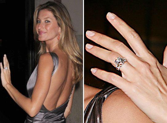 Gisele Bundchen S Engagement Ring Celebrity Engagement Rings Celebrity Wedding Rings Engagement Rings On Finger