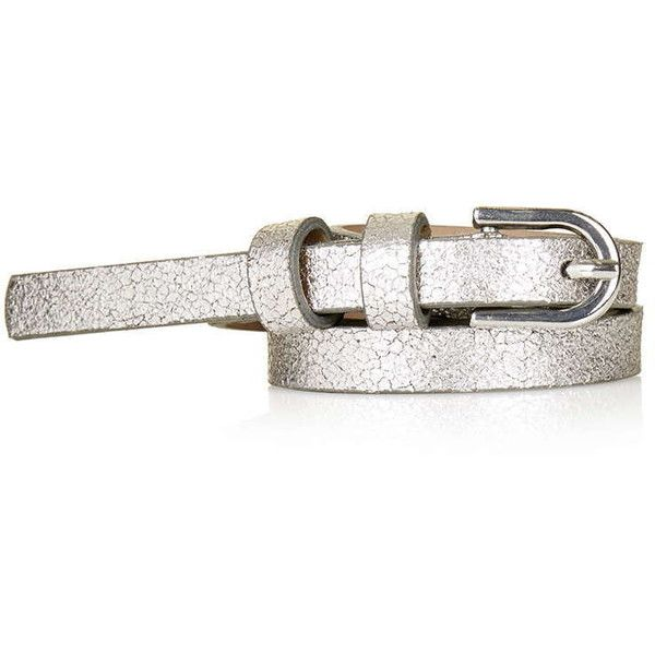 TopShop Crackle Belt ($11) Liked On Polyvore Featuring