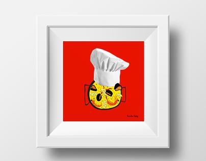"#illustration #art #creativity #advertising #creatives #collage #photography #dibujo #drawing #creatividad #diseño #design #publicidad  @Behance portfolio: """"Chef Paellero"""" http://on.be.net/1IfZC2Q"