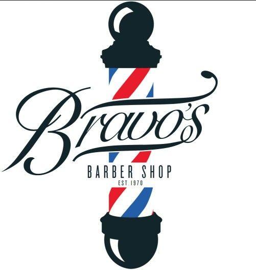 new bravos barber shop logo prototype barbershop ideas
