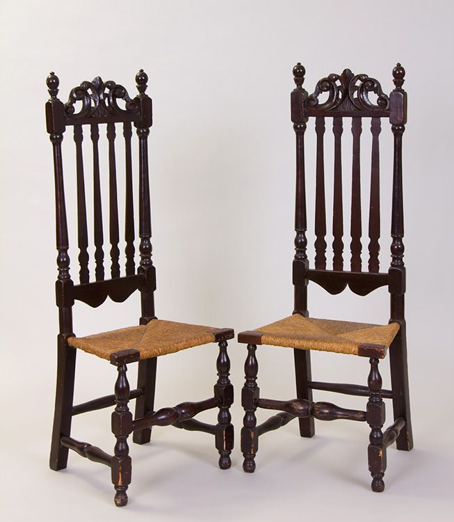 Bannister Back Side Chairs, 1710, Cape Ann,Gloucester,Massachusetts - Bannister Back Side Chairs, 1710, Cape Ann,Gloucester,Massachusetts