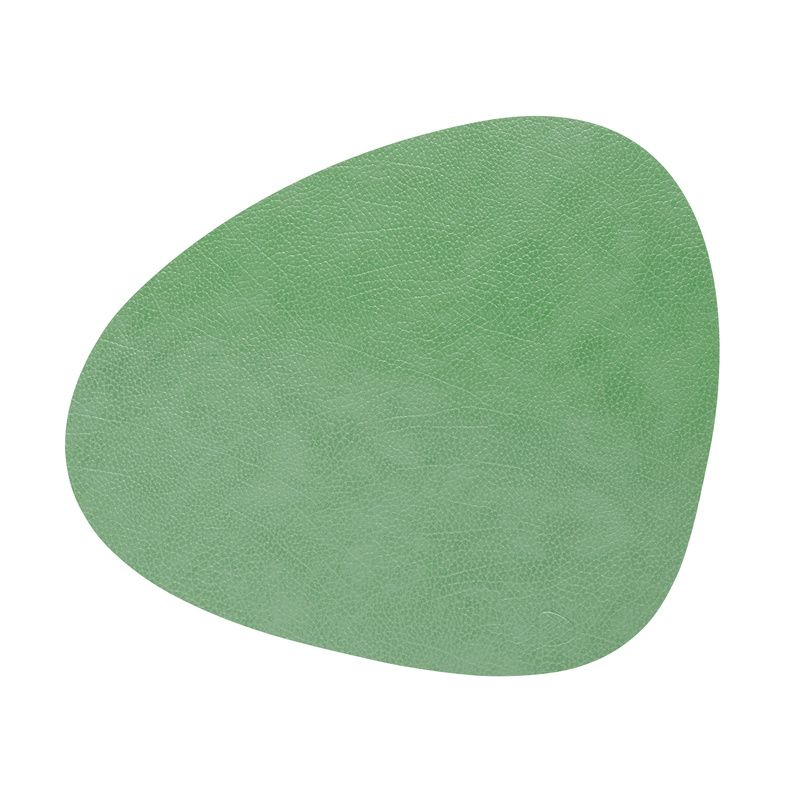 Table Mat Curve Forest Green Leather Hippo L Dinner Size 37 X 44 Cm Linddna Com In 2020 Table Mats Traditional Table Recycled Leather