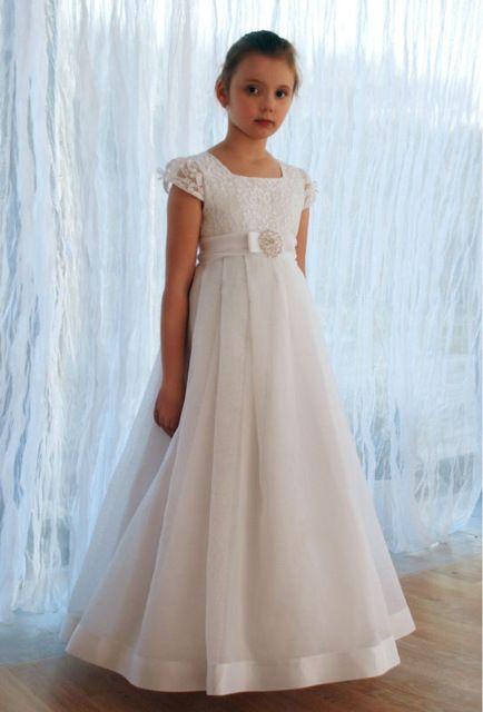 187d315d1431e 2019 New Arrival Short Sleeve Lace Flower Girl Dresses Vestido de ...