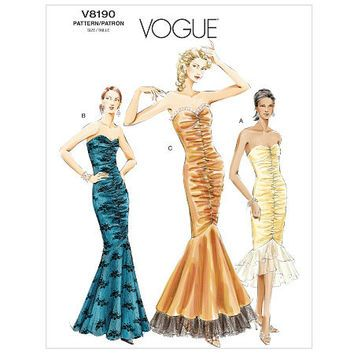 Patterns For Strapless Evening Dresses