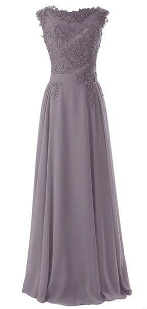 64d999e3ca3d Wedding House,Lange Chiffon Abschlussball Kleider Scoop Abendkleider mit  Applikationen PPC3  Amazon.de