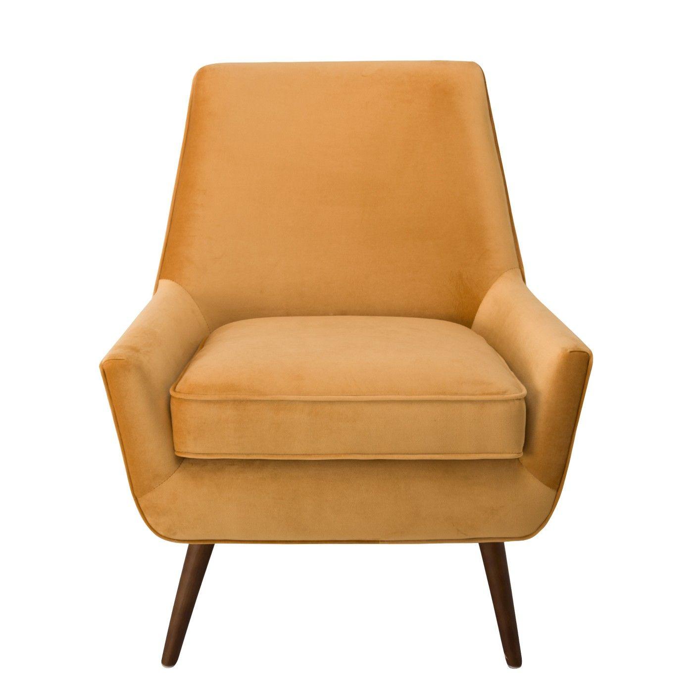 Dean Modern Velvet Accent Chair Gold Homepop Target Modern