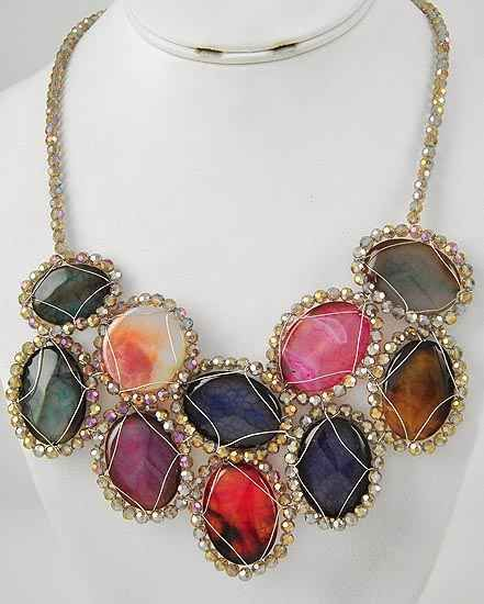 I Could Totally Make This: Rios Rocks Statement Necklace $55 Website Coming Soon!