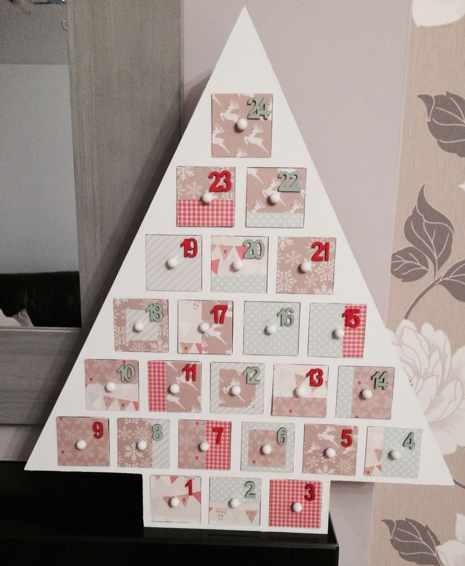 Home decorated advent calendar tree from hobbycraft tree from hobbycraft solutioingenieria Images