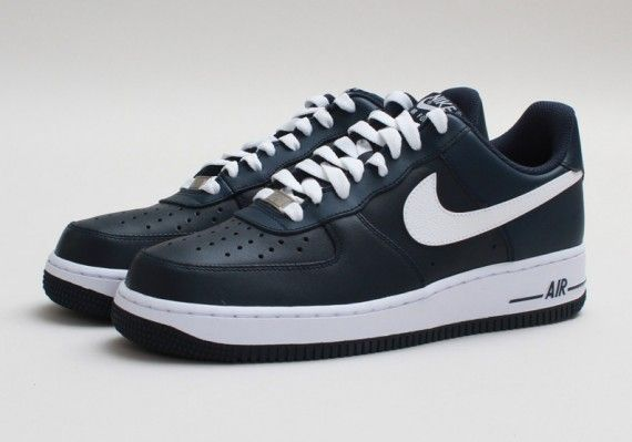 b7bd84f8136c9 Nike Air Force 1 Low - Armory Navy - White - SneakerNews.com