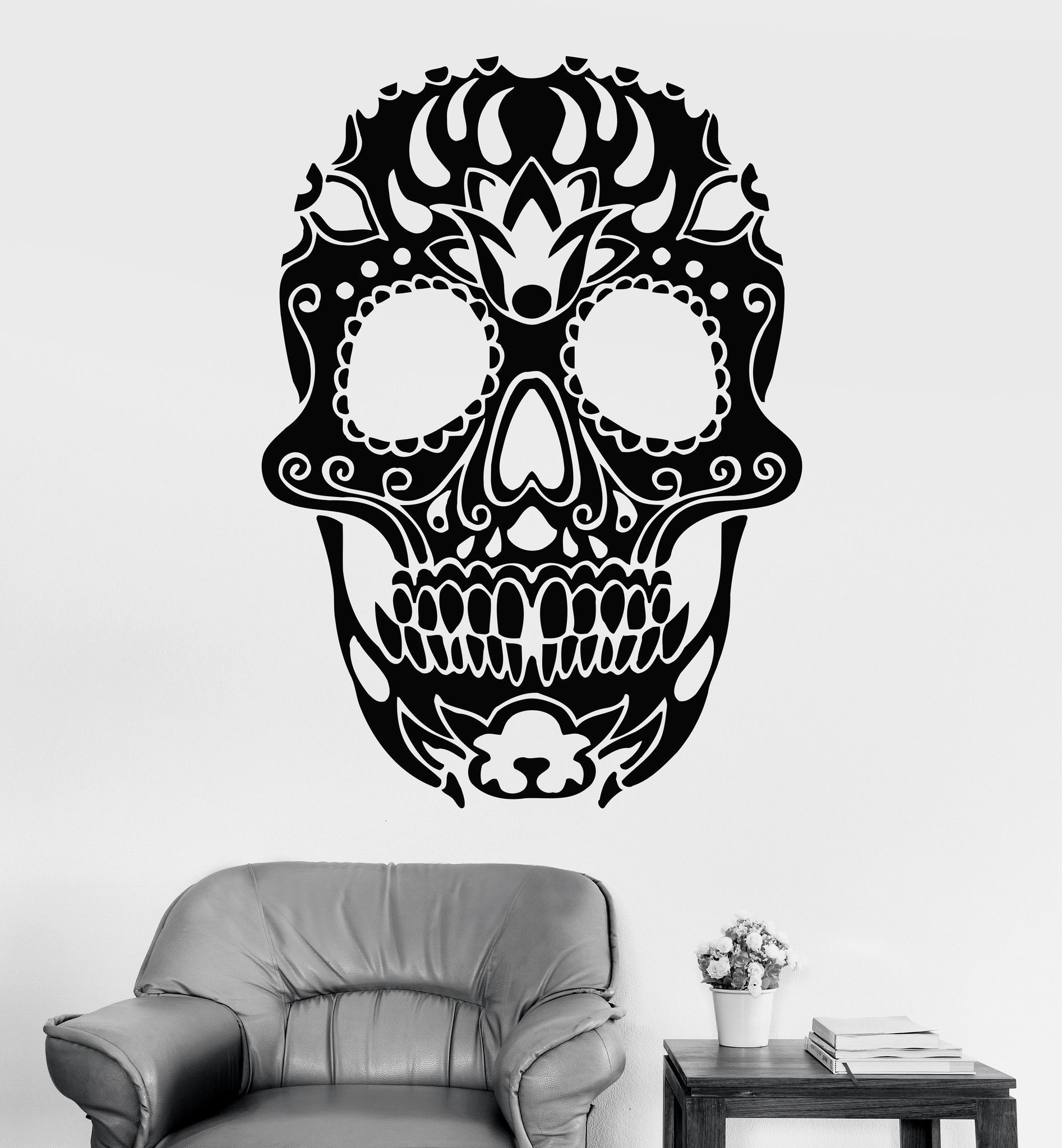 vinyl wall stickers sugar skull calavera mexico mural 163ig vinyl wall stickers sugar skull calavera mexico mural 163ig