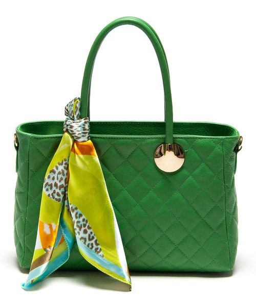 Look at this Verde Scarf Quilted Leather Shoulder Bag on #zulily today!