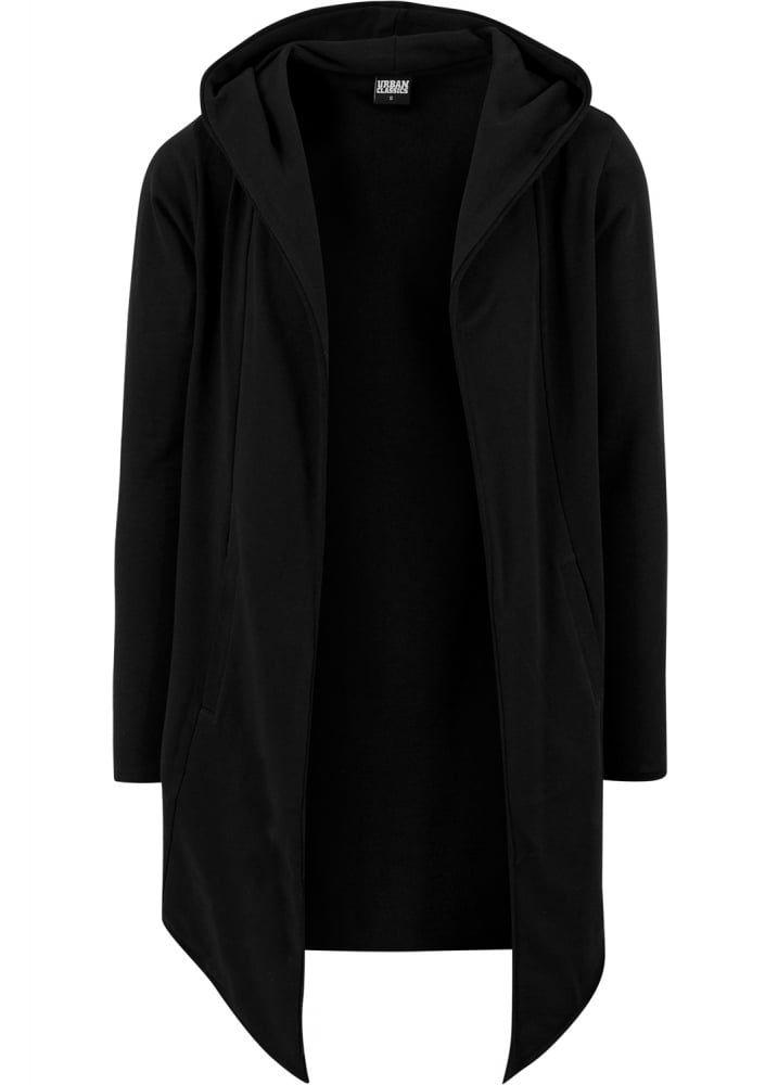 Urban Classics Black Open Edge Hooded Long Cardigan | Men's ...