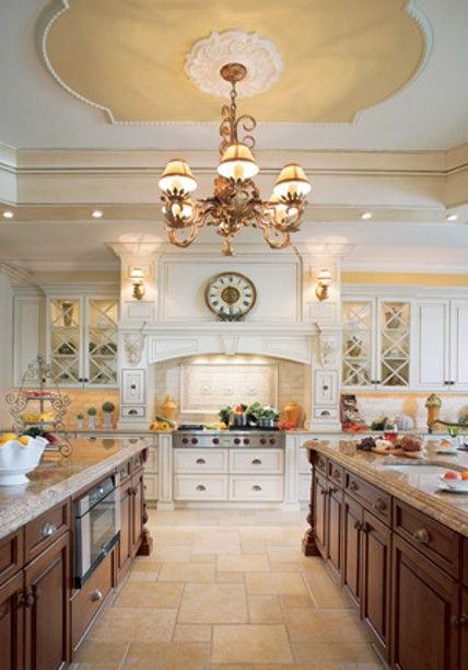 Award Winning Kitchen! Linen White Cabinets In A Chocolate