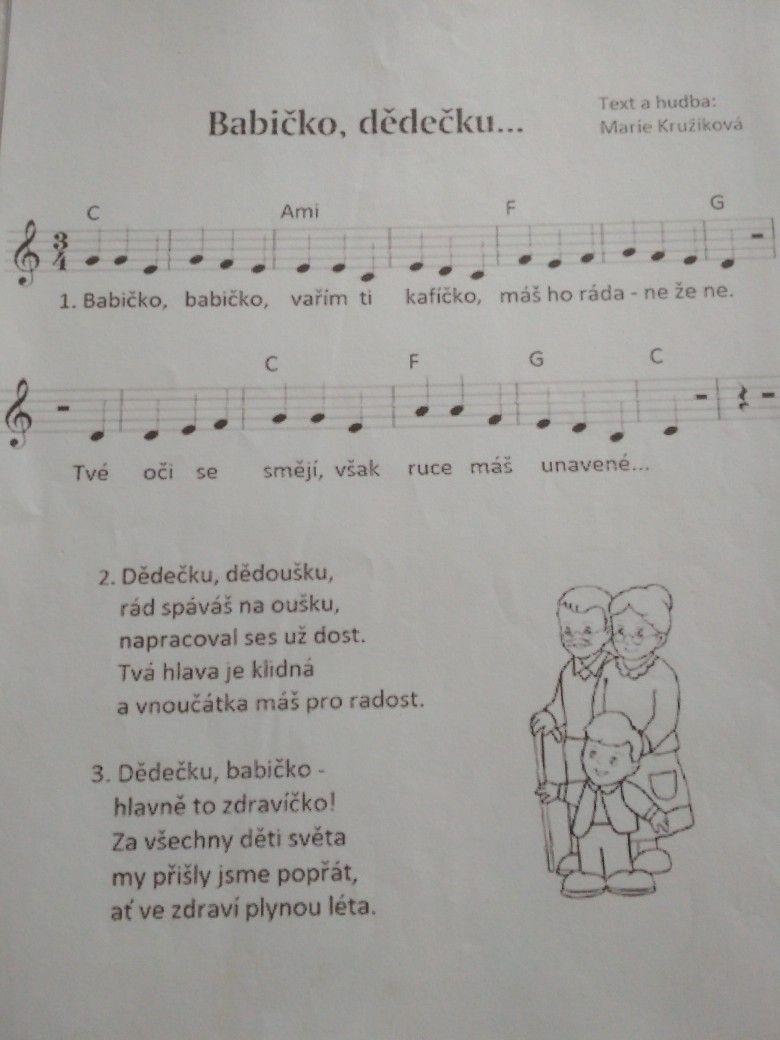 Pin By Tereza Martinakova On Pisnicky Music Sheet Music Person