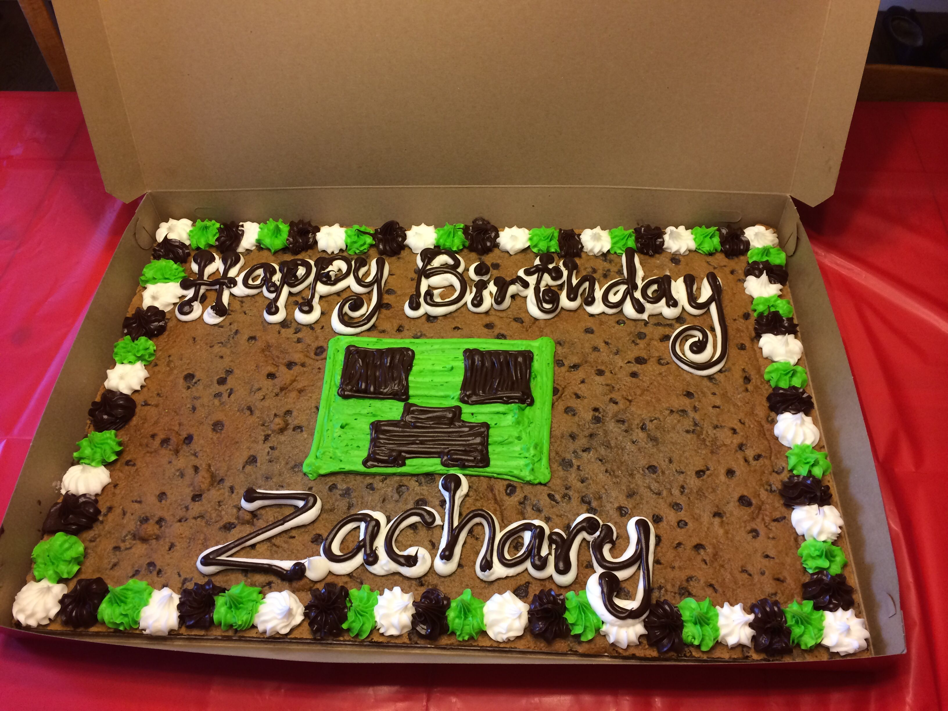 Minecraft Cookie Cake Creeper Minecraft Birthday Cake 6th