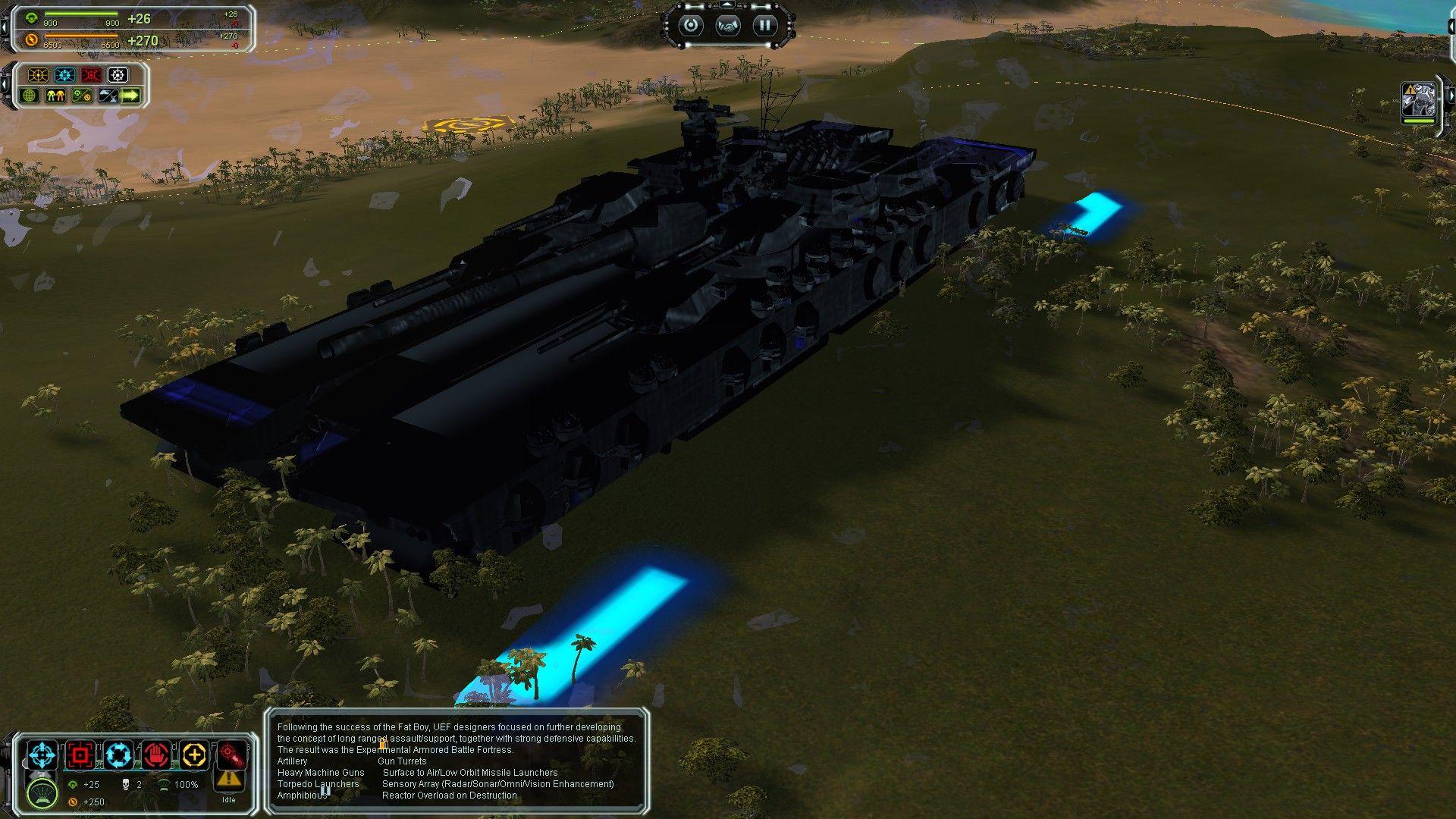 Supreme Commander Mod (WIP) - Land Battleship-SupCom  By ROBOTECH2140