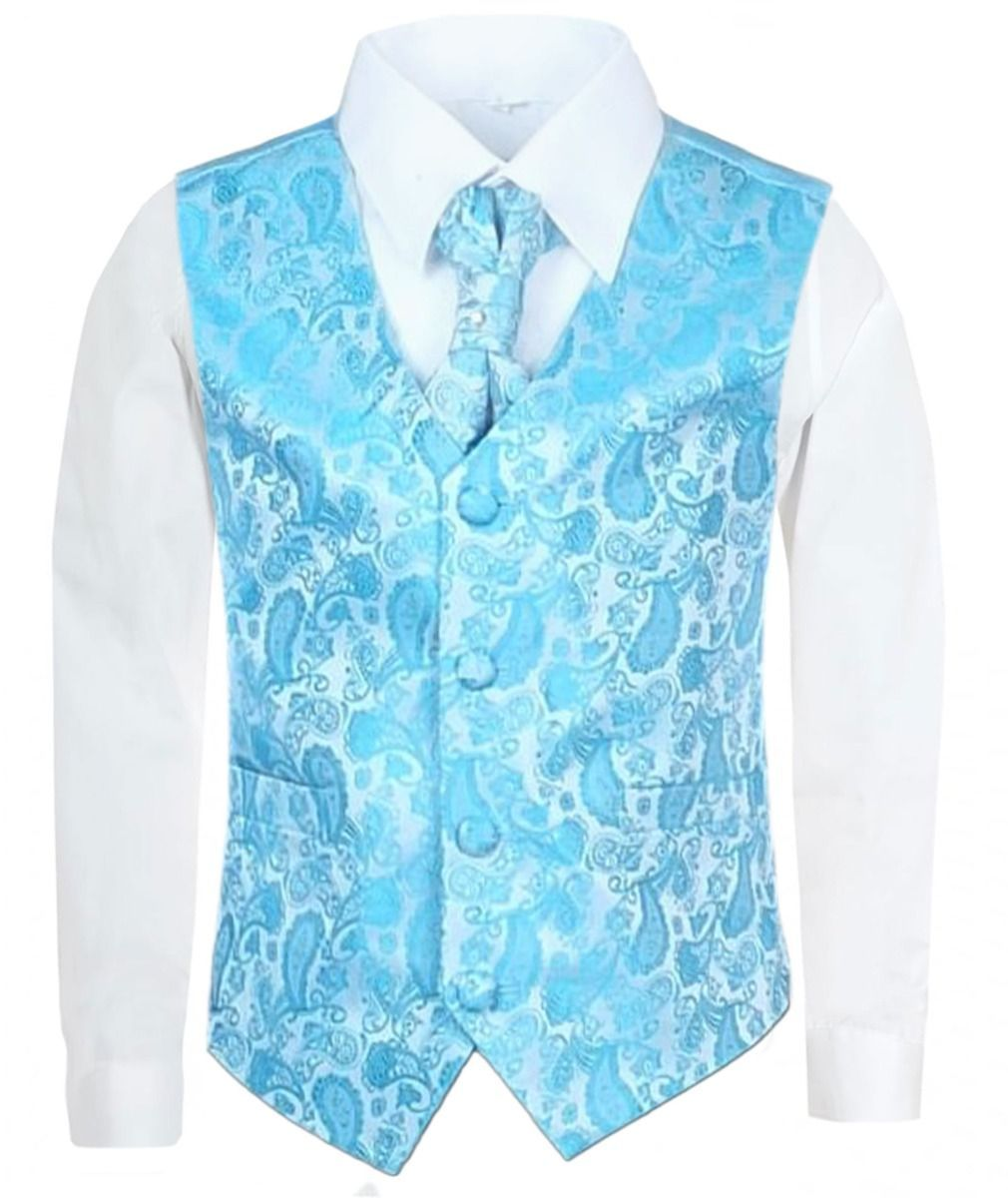 2b1b9e8daa9b This ultra chic four piece boys waistcoat suit is made of microfiber giving  comfort and ease without compromising on quality. With its crisp white  shirt, ...